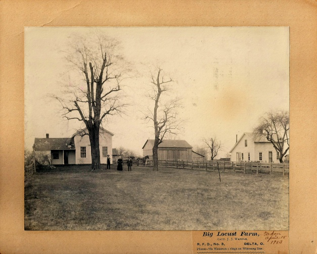 Antique Photo: Big Locust Farm, Delta, Ohio, April 15, 1903