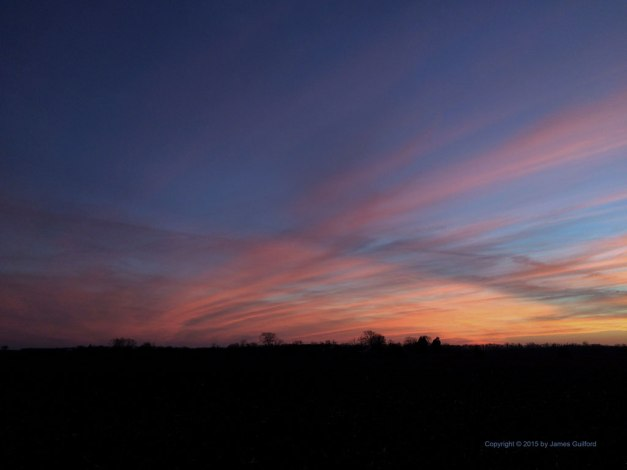 Photo: Christmas Sunset 2015: Napoleon, Ohio. Photo by James Guilford.