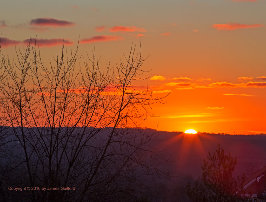 Photo: Orange Sunset. Photo by James Guilford.
