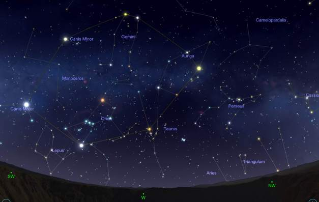 Image: Star Map - SkySafari Simulation
