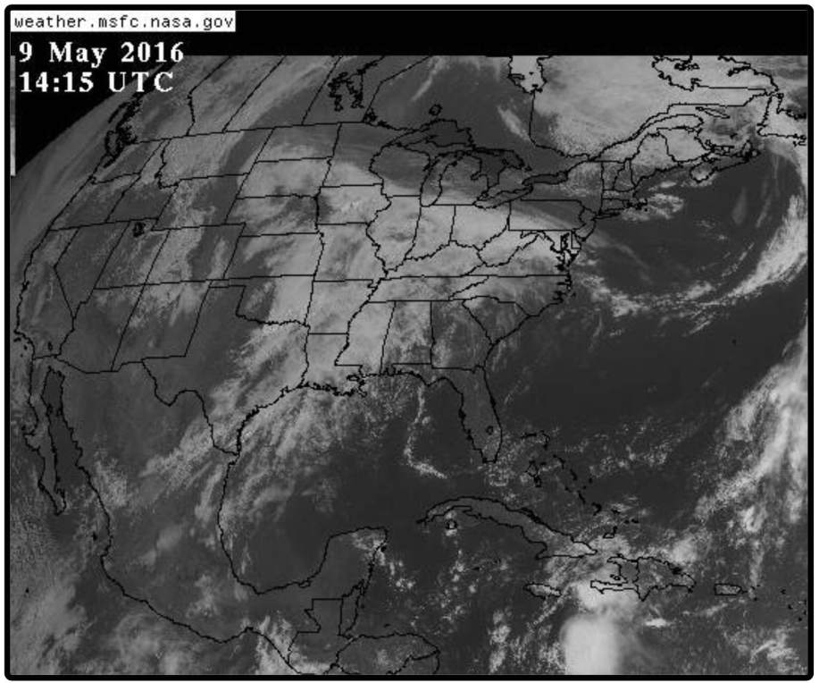 Photo: GOES East view of cloud cover.