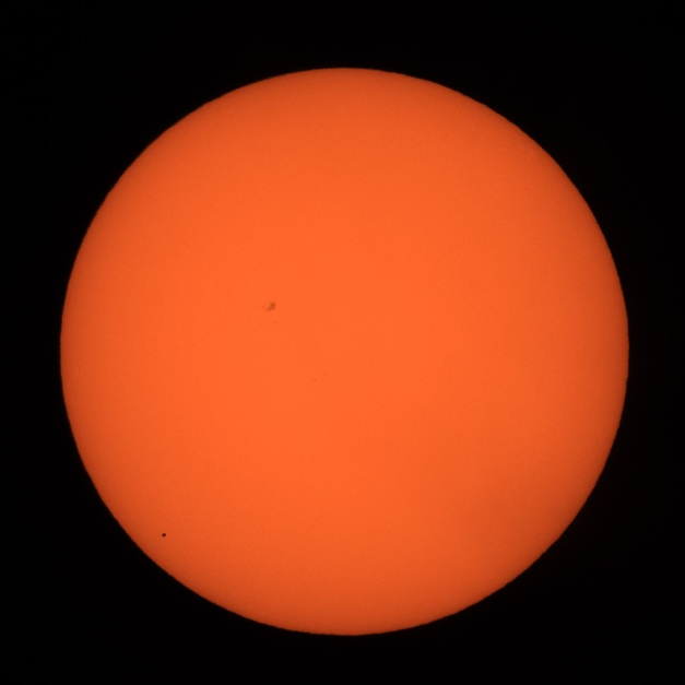 Photo: 2016 Transit of Mercury. Photo by James Guilford.