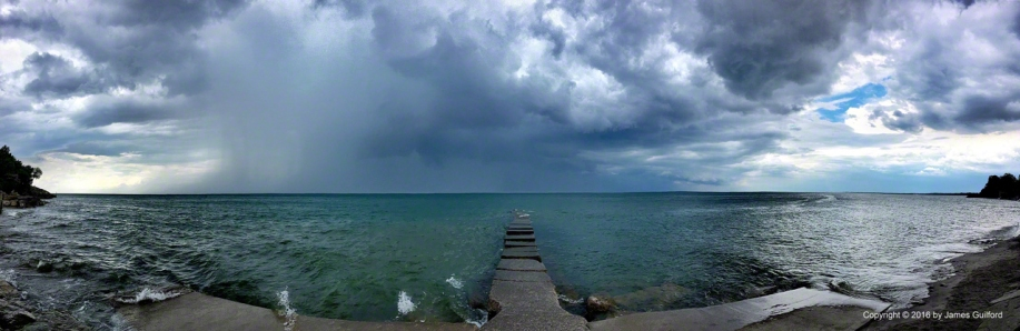 Photo: Lake Erie Storm off Vermilion. Photo by James Guilford.