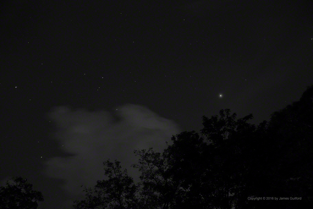 Photo: Mars and Stars - the View to the South. Photo by James Guilford.