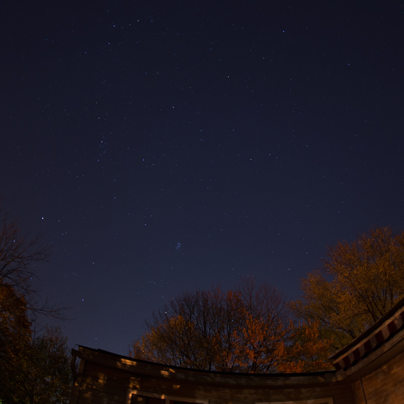 Photo: November: Looking East. This is a view of the sky from our back yard. Photo by James Guilford.