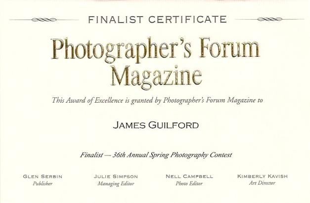 Photo: Contest Finalist Certificate.