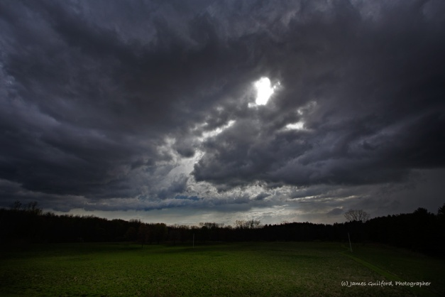Photo: Dramatic clouds roll in accompanying a cold front. Photo by James Guilford.