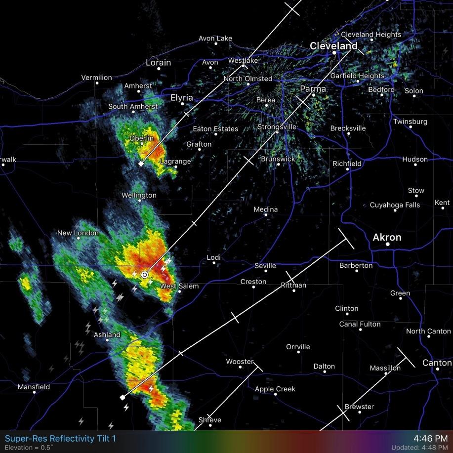 Image: Radar Image of April 27 Storm Activity