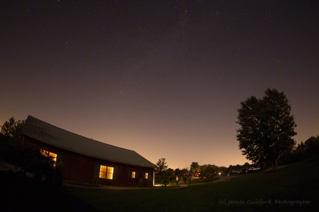 Photo: Light pollution from the city of Medina. Photo by James Guilford.
