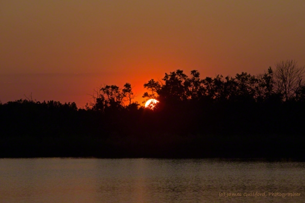 Photo: Orange ball sunset. Photo by James Guilford.