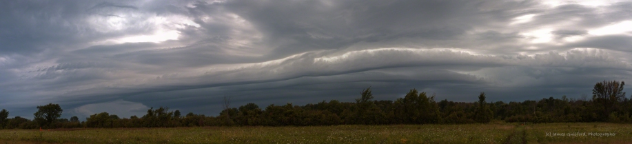 Photo: Panorama of approaching storm. Photo by James Guilford.