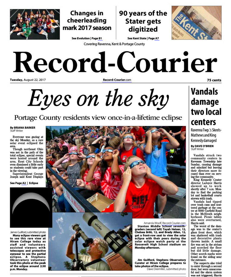 Image: The (Ravenna) Courier-Record - August 22, 2017 - Page 1