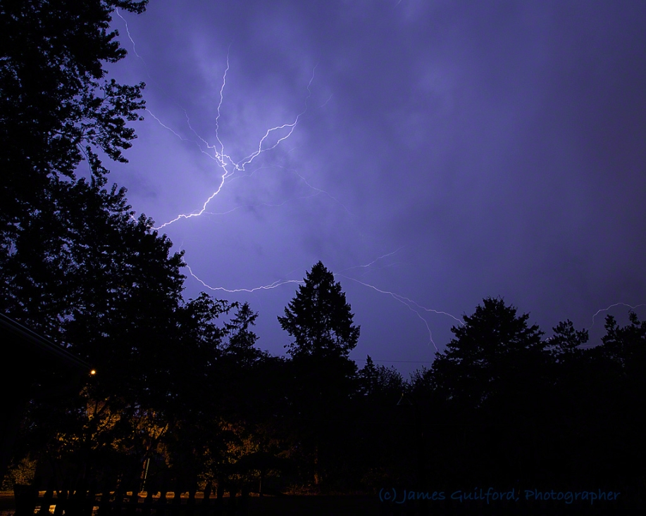 Photo: Lightning over Medina County, Ohio, September 4, 2017. Photo by James Guilford.