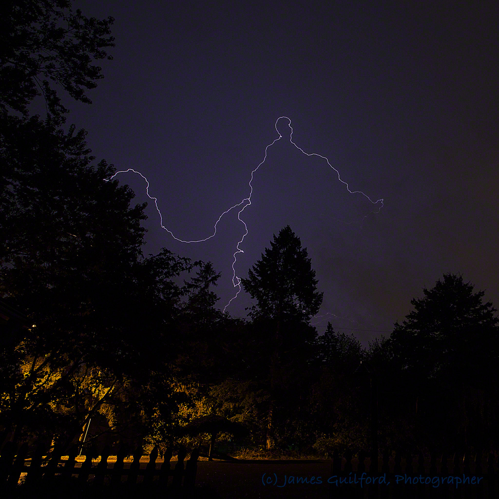 Photo: Final Shot of the Night: Lightning over Medina County, Ohio, September 4, 2017. Photo by James Guilford