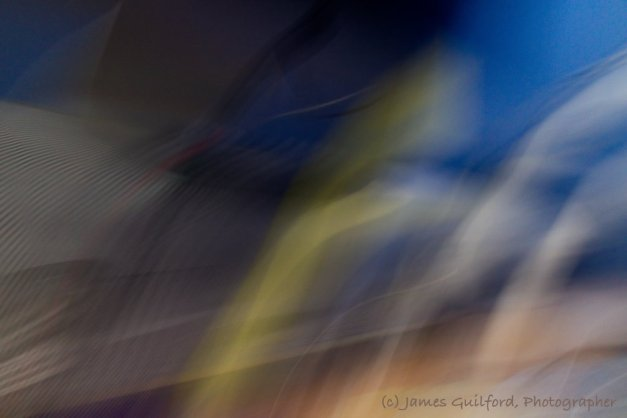 Photo: A swirl of patterns and colors recorded during camera movement. Photo by James Guilford.