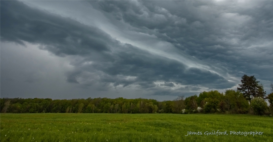 Photo: Nearly overhead, impressive storm clouds move in. Photo by James Guilford.