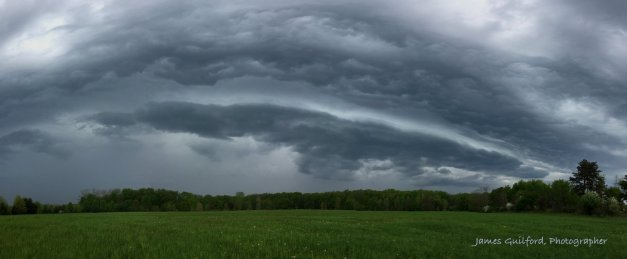 Photo: Cloud structure intensifies. Photo by James Guilford.