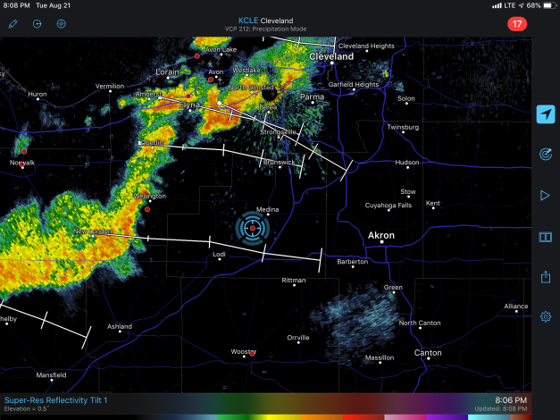 Image: Radar Image of the Approaching Weather