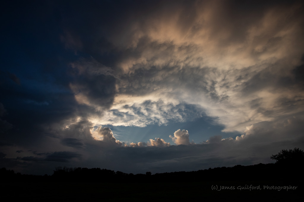 Photo: Maw of the Storm. Colors fading and clouds closing in. Photo by James Guilford.