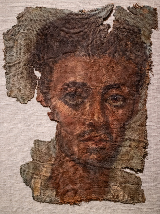 "Photo: ""Funerary Portrait of a Man"", about AD 138 - 192, Egypt, Roman Empire, Antonine, Cleveland Museum of Art"