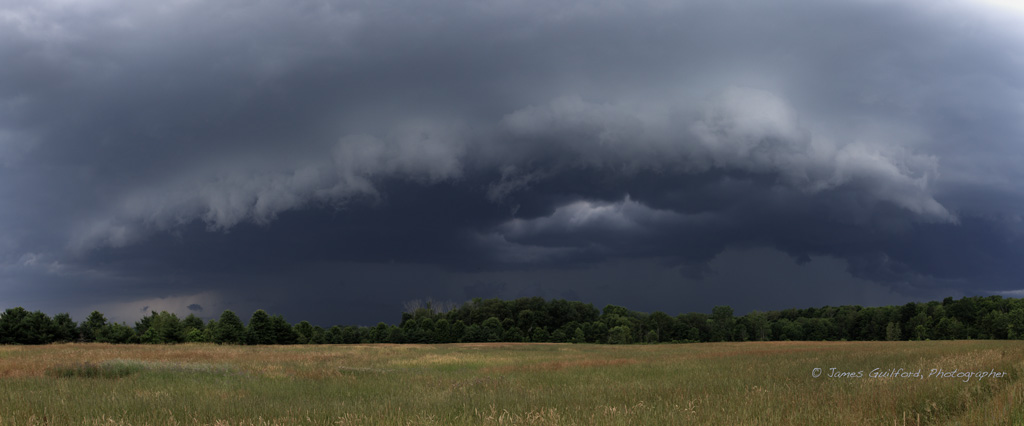 Photo: Shelf Cloud by James Guilford, July 2, 2019