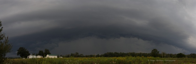 Photo: Shelf cloud panorama.