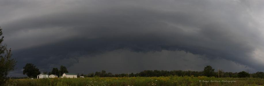 Photo: Shelf cloud panorama.
