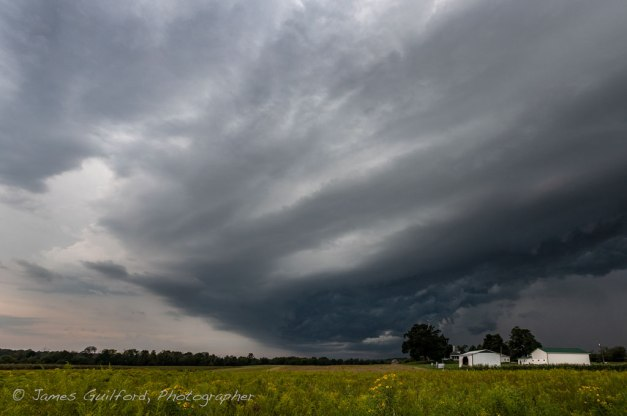 Image: Storm clouds over rural Ohio farm.