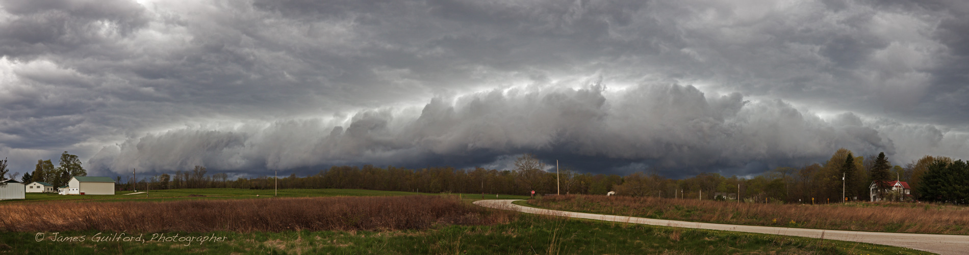 May 10 shelf cloud. Photo by James Guilford