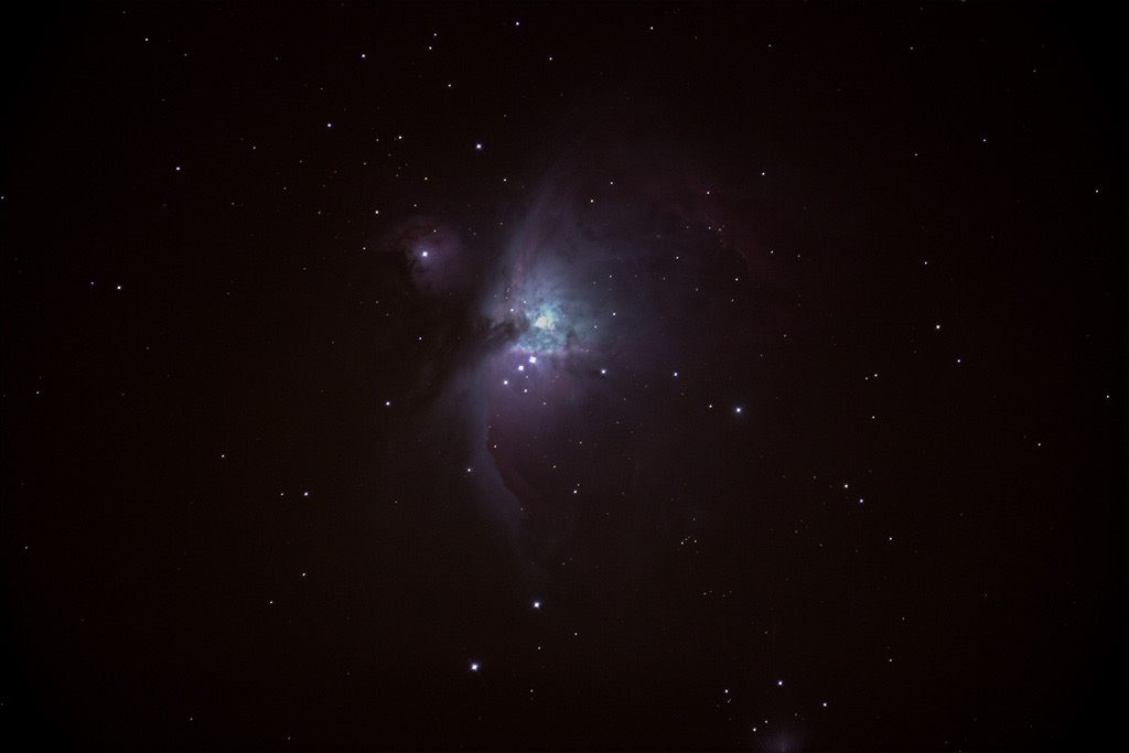 Photo: The Orion Nebula -- Messier 42 -- in the Sword of Orion lies about 1,344 light years distant from Earth. Photo by James Guilford